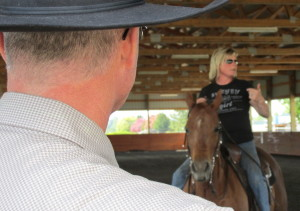 Martin Black works with Cindy Parker at the EBH Seminar in Sherwood, Oregon