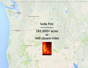 The 283,000 acre Soda Fire