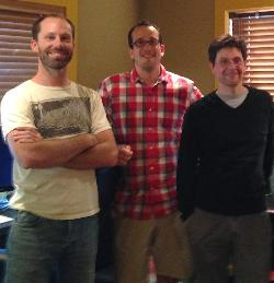 L to R, director Phill Baribeau, business manager Paul Quigley, editor Scott Chestnut