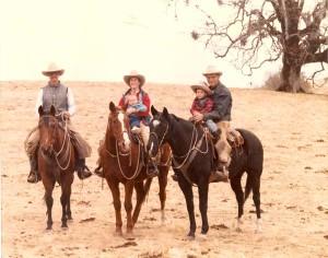 Steve, Bill, and Leslie Dorrance, with children