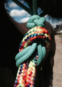 The eye splice on this Knotty Girlz lead line is simple and elegant.