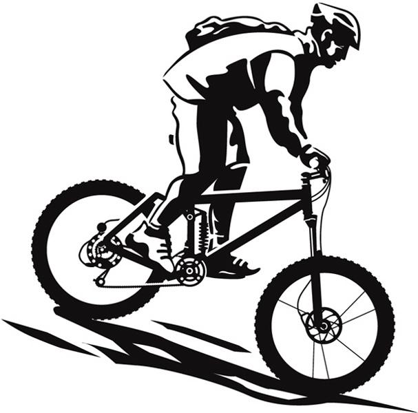 clipart mountain bike rider - photo #30